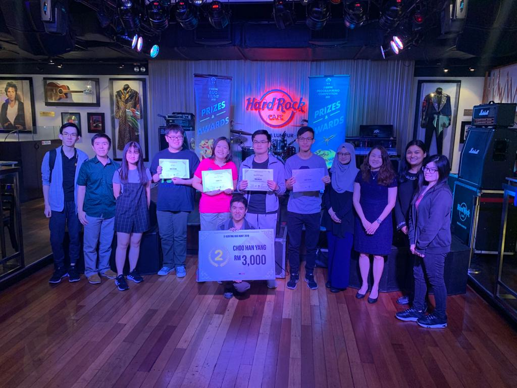 Winners of E-Genting Bug Hunt Competition 2019